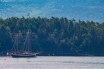 Maine Sailboat at Desert Island-